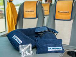Дополнительные услуги в автобусах ECOLINES: подушки под голову, наушники