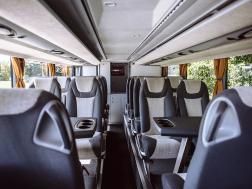 Интерьер в автобусе Setra от ECOLINES